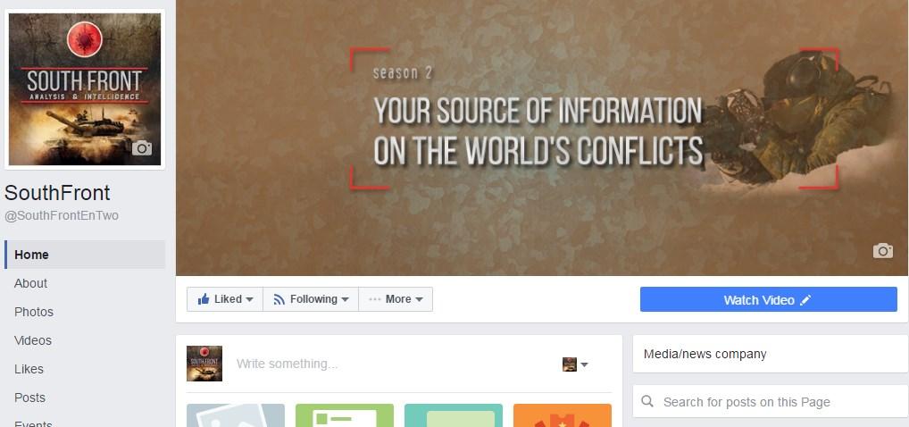 Facebook Censores SouthFront