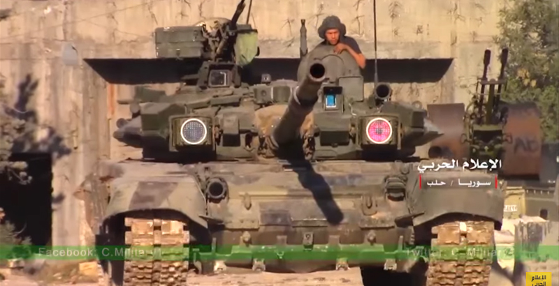 T-90 Tank of Rare Modification Spotted in Syria (Video)