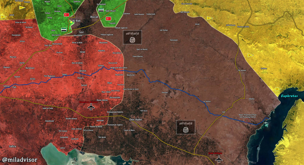 Syrian Army Further Develoing Advance Against ISIS In Direction Of Deir Hafer In Eastern Aleppo
