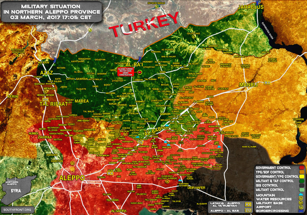 Military Situation In Aleppo Province Prior To US-backed SDF Starts Transfering Villages To Syrian Army