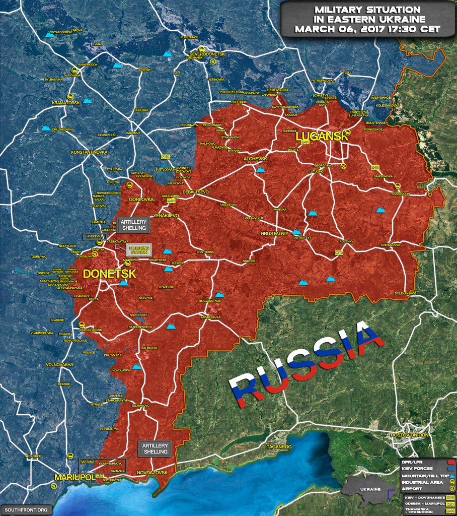 Military Situation In Eastern Ukraine On March 6, 2017