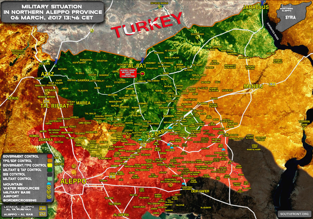 Government Troops Gain More Ground In Aleppo Isolating ISIS Stronghold of Dier Hafer