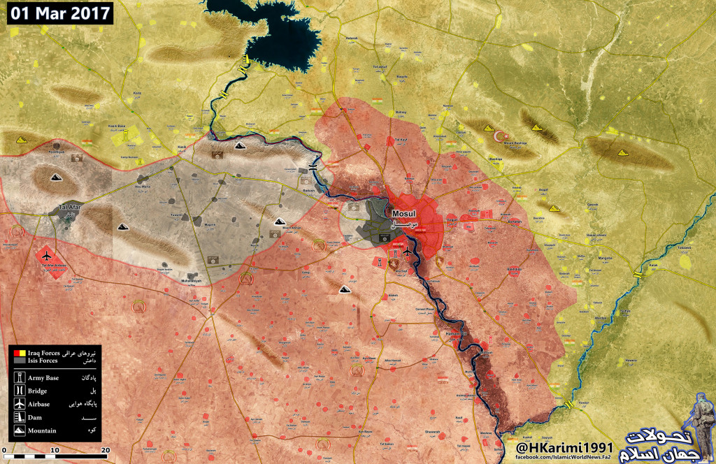 Western Mosul Is Completely Encircled By Iraqi Forces