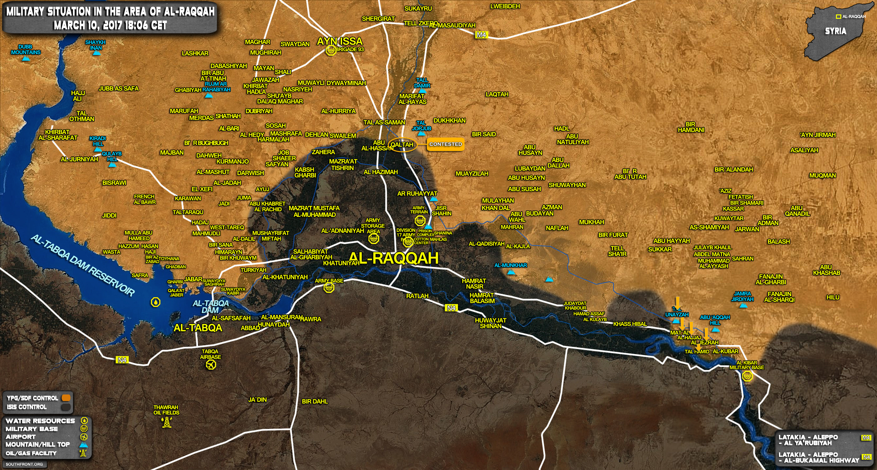 Backed Forces Capture More Area From ISIS East Of Raqqah - Isis location map in us