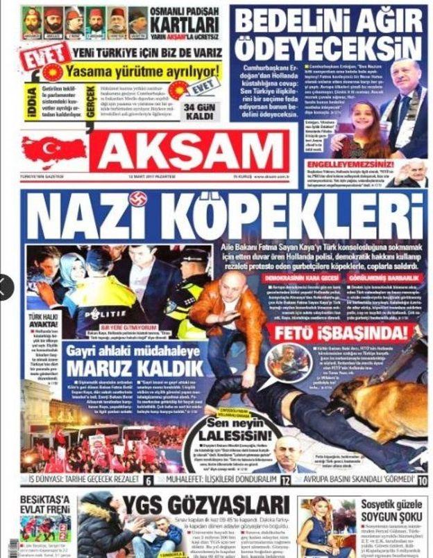 """Nazi Dogs"": Turkey Prepares Sanctions Against The Netherlands"