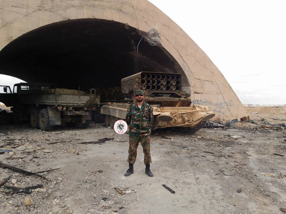 Russian TOS-1 Heavy Flamethrower System In Battle Against ISIS Near Palmyra -Photos