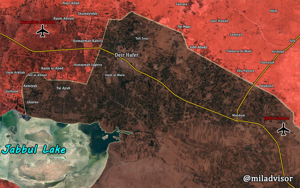 Syrian Troops Outflaking ISIS Stronghold Of Deir Hafer From Southern Direction