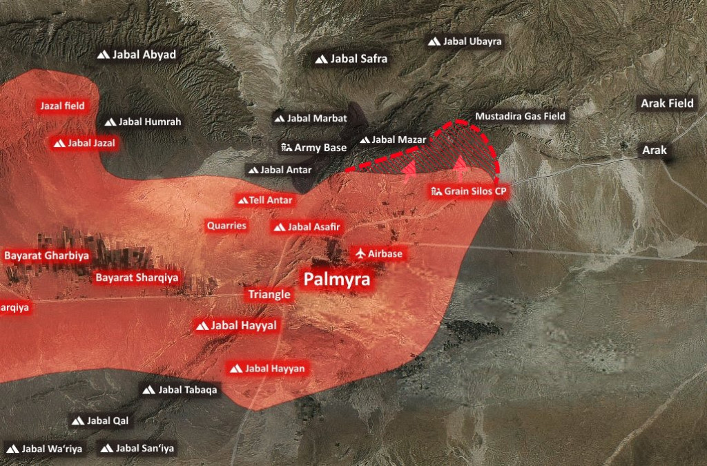 Syrian Army Retakes Mustadira Mountain From ISIS Northeast Of Palmyra