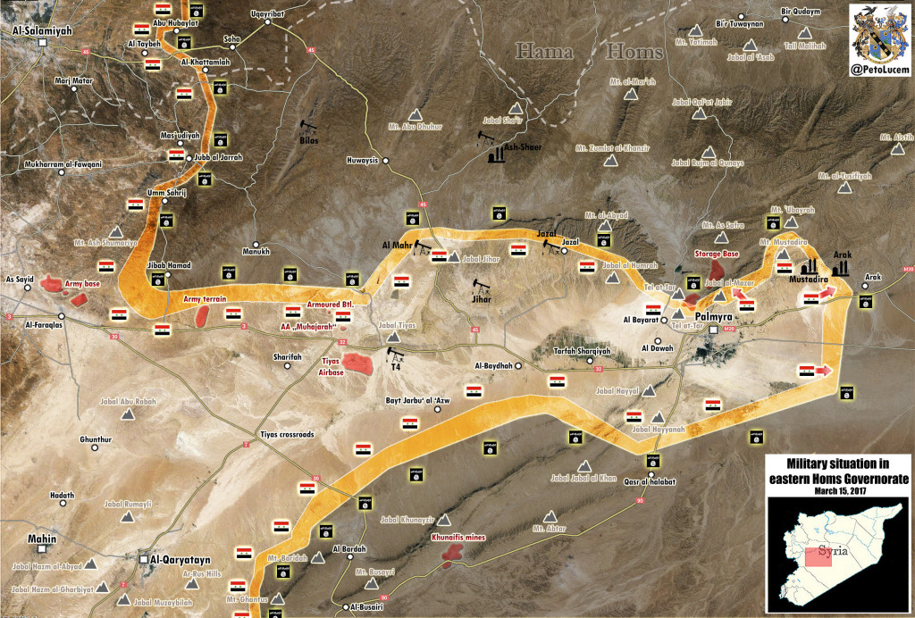 Military Situation In Area Of Palmyra After Recent Advances Of Syrian Army