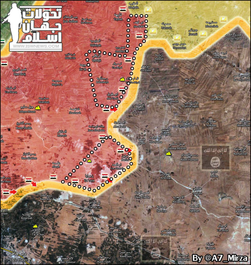 Government Forces Liberate 8 More Villages From ISIS In Eastern Aleppo