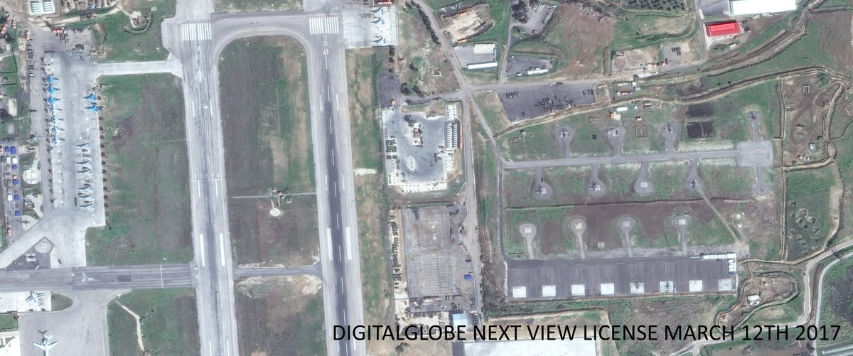 Sattelite Imagery Of Russian Airbase In Syria (March 12, 2017)