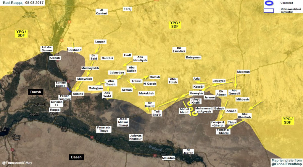 US-Backed 'Syrian Democratic Forces' Renew Operations Against ISIS West Of Raqqah