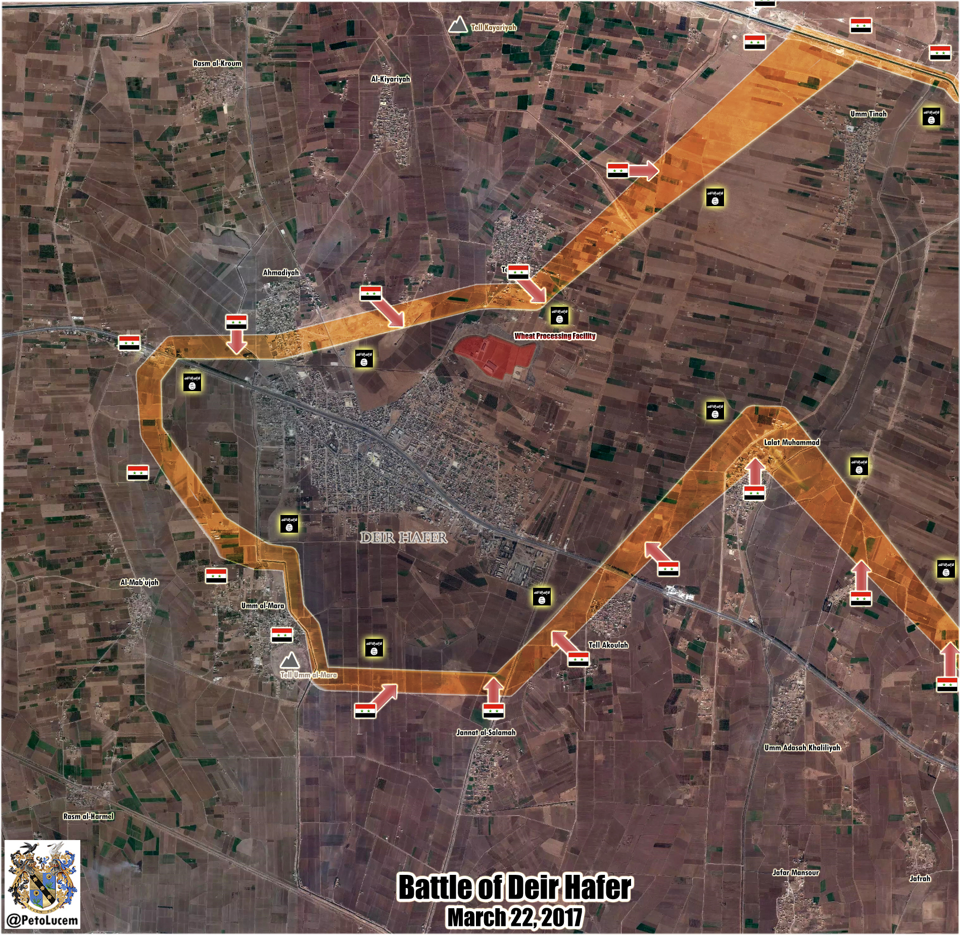 Syrian Army Encircles ISIS Stronghold Of Deir Hafer