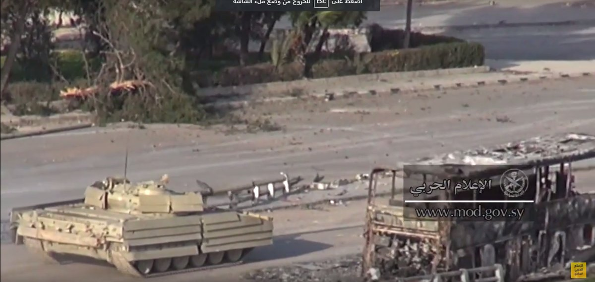 Syrian Military Develops New Effective Tank Armour