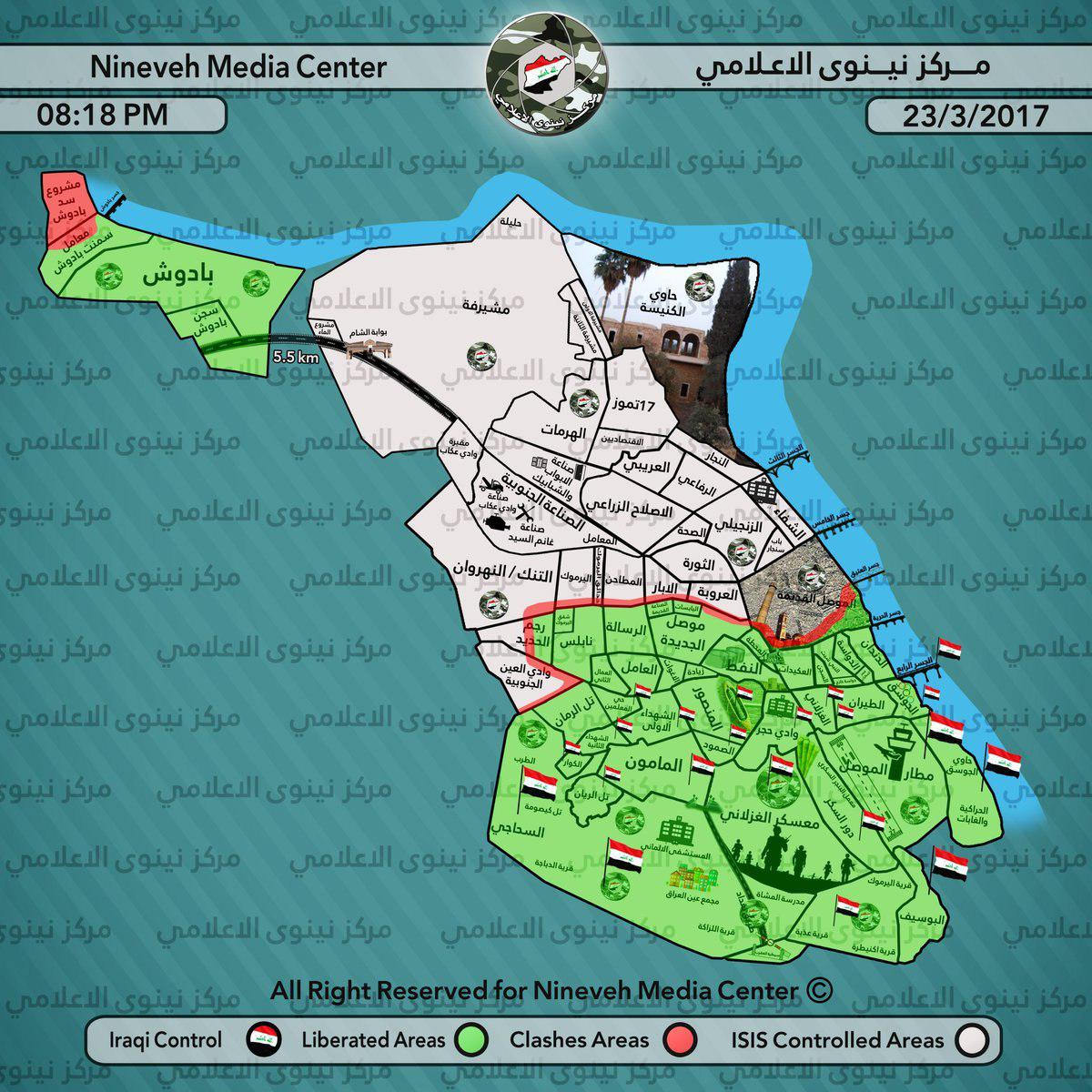 Iraqi Forces Further Advancing In Western Mosul