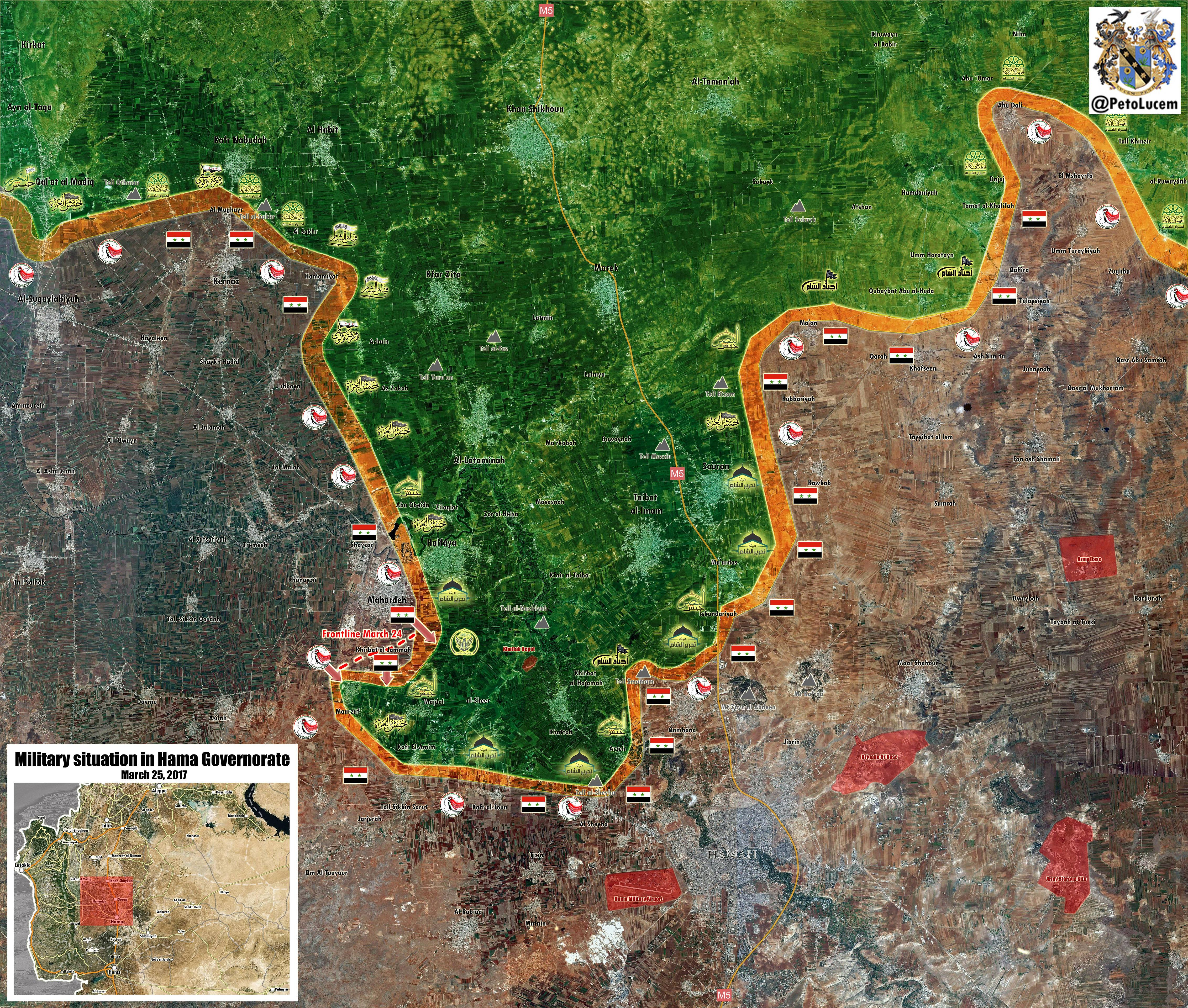 Government Forces Recapture More Points From Terrorists In Northern Hama