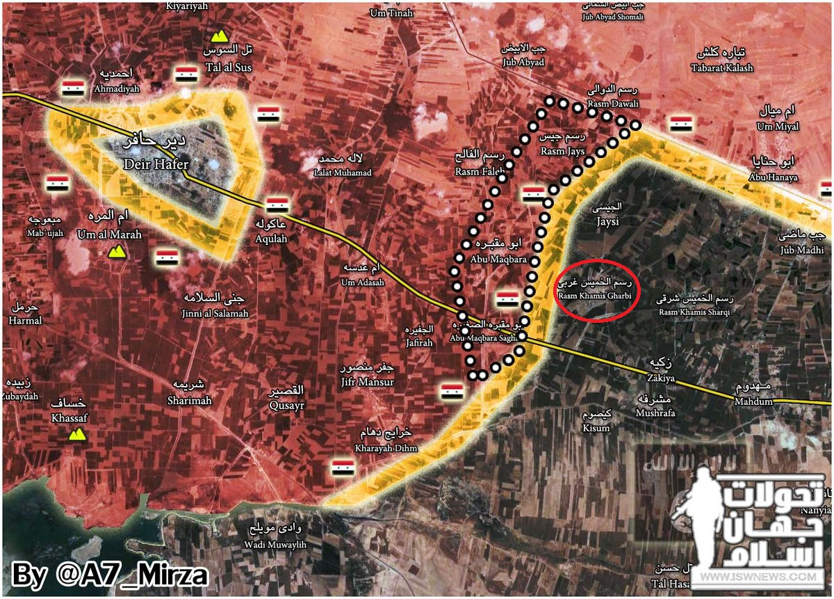 Syrian Army Liberated Four Villages Southeast Of Deir Hafer (Map)