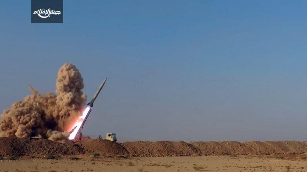 Saudi-Backed Terrorist Group Launches Missiles At Government Positions In Damascus Countryside (Video)