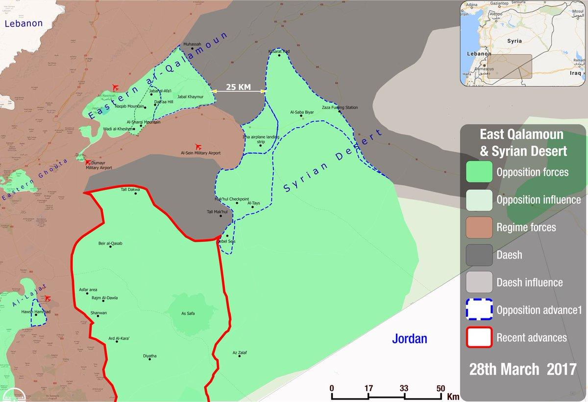 'Moderate' Militants Captures Tel Dakwa From ISIS In Suweida