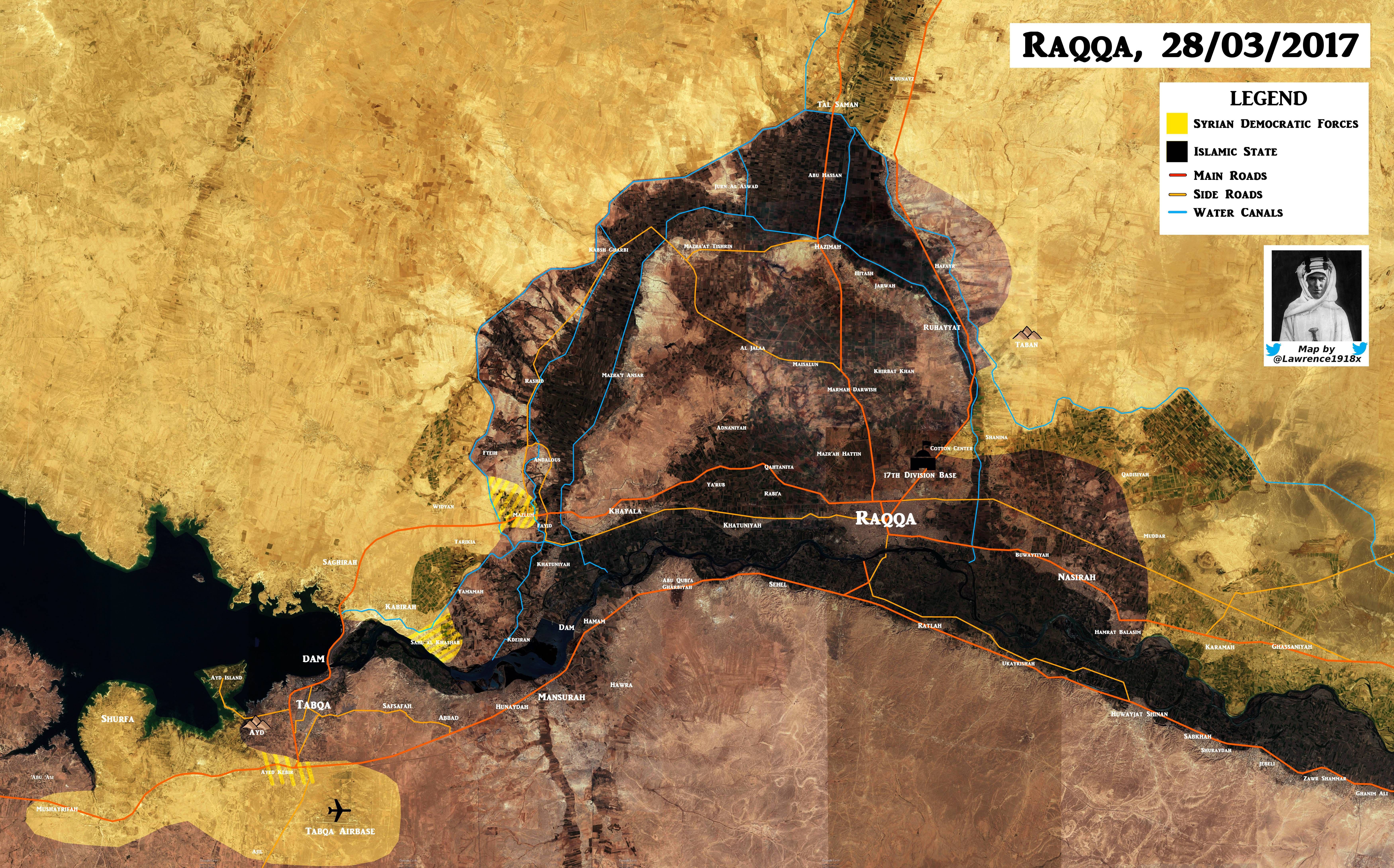 US-Backed Forces Gain More Areas West Of Raqqah (Map Update)