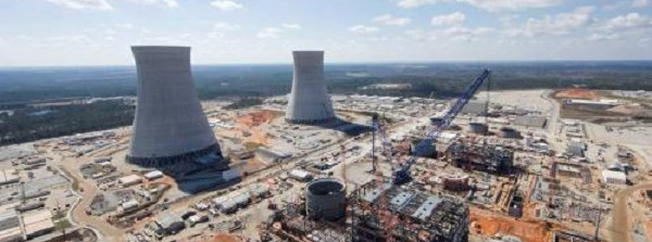 The Vogtle Unit 3 and 4 site, a Westinghouse project, near Waynesboro, Ga., in February