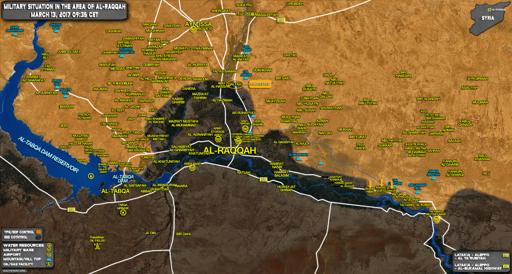US-backed Kurdish-Led Forces Expel ISIS From More VIllages East Of Raqqah