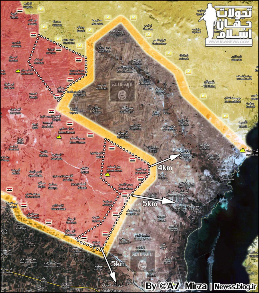 Syrian Army Is In Only 5 km From Strategic Water Treatment Plant In Aleppo Province
