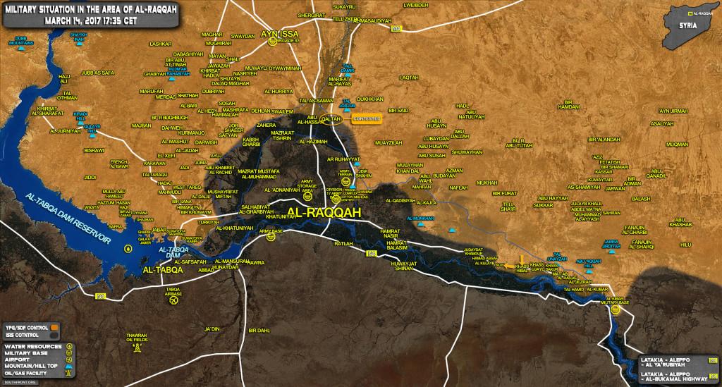 US-Backed Kurdish-led Forces Advance Against ISIS Along Euphrates East Of Raqqah