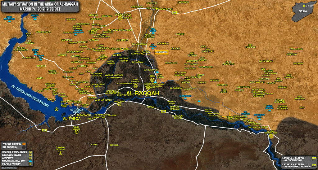 US-Backed Kurdish-led Forces Advance Against ISIS Along Euphrates East Of Raqqah