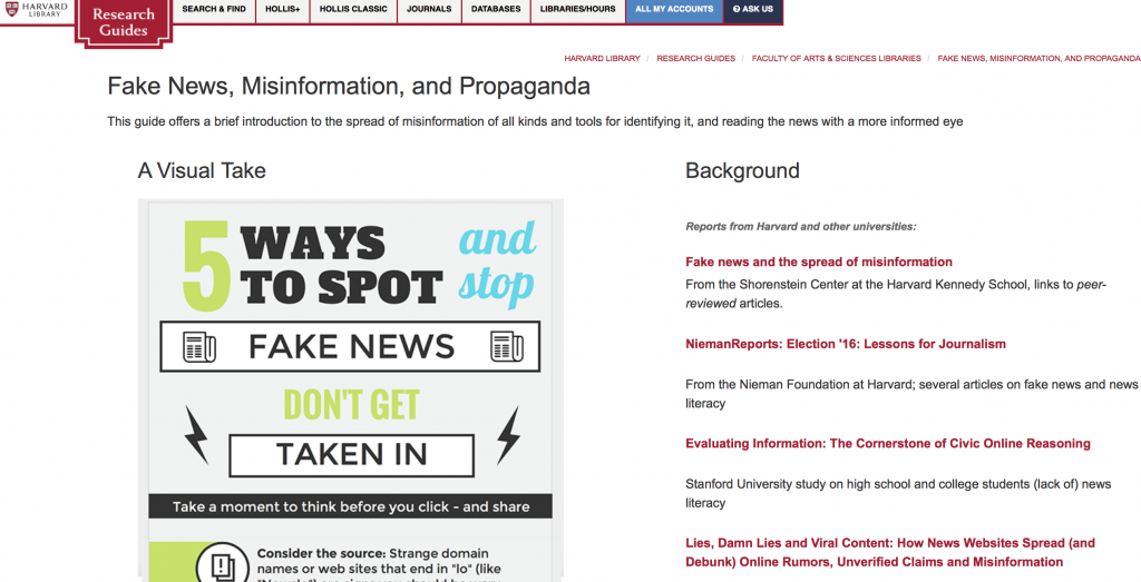 "Harvard's Fake Guide to Fake News Sites. America's 21st Century ""Index Librorum Prohibitorum"""