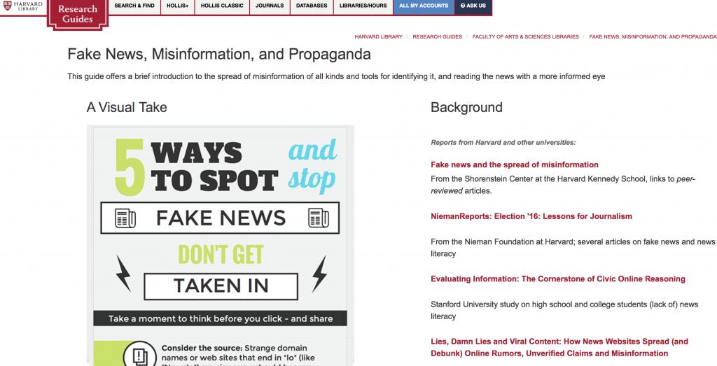 "Harvard's Fake Guide to Fake News Sites. America's 21st Century ""Index Librorum Prohibitorum"""