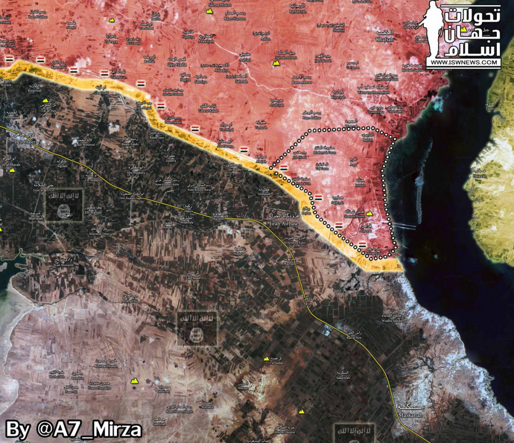 Syrian Army Liberates More Villages From ISIS, Outflanks Strategic Jihar Airbase