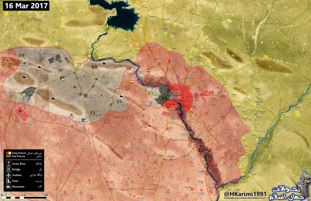 Map Update: Military Situation In Area Of Mosul