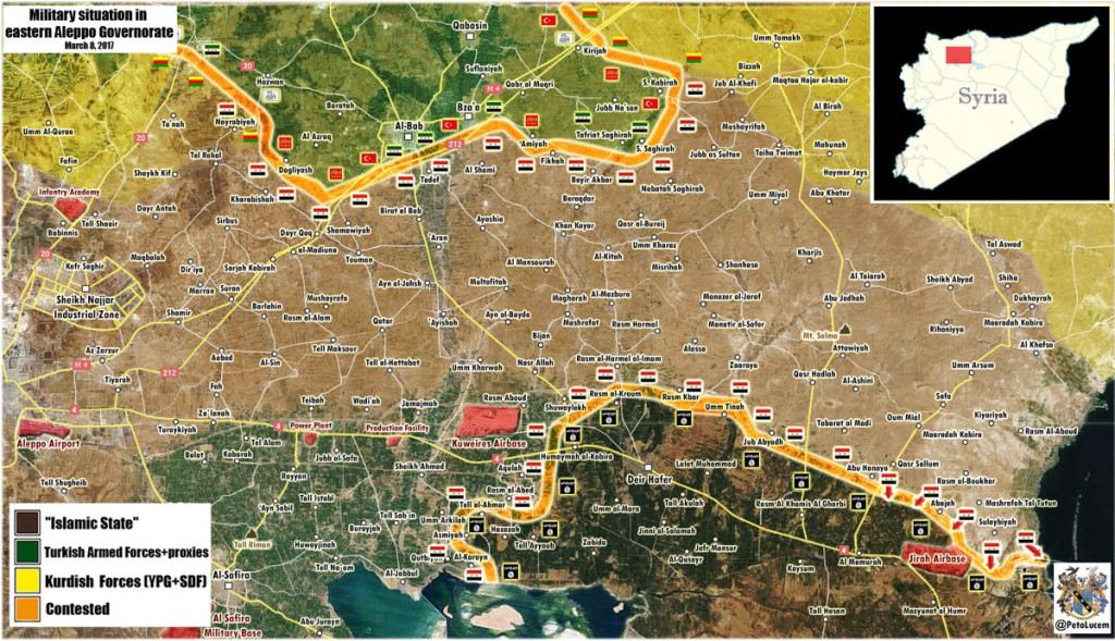 Syria: Military Situation In Eastern Part Of Aleppo Province After Recent Gains By Government Forces