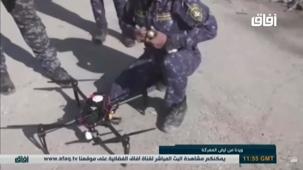 Footage: Iraqi Security Forces Use Armed Quadcopters Against ISIS In Mosul