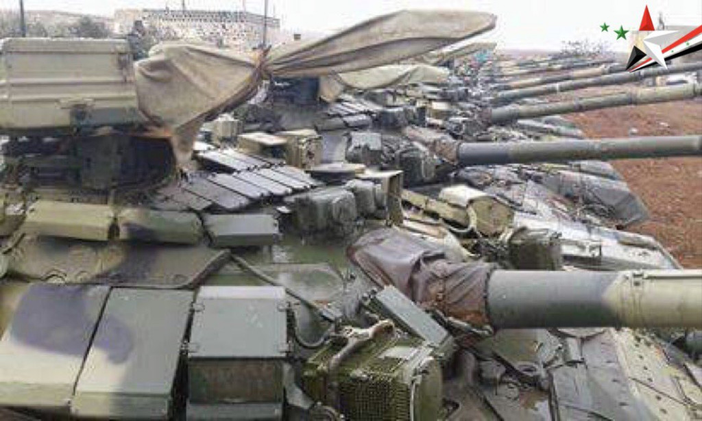Photos: Lots Of T-90 Main Battle Tanks Supplied By Russia To Syrian Army