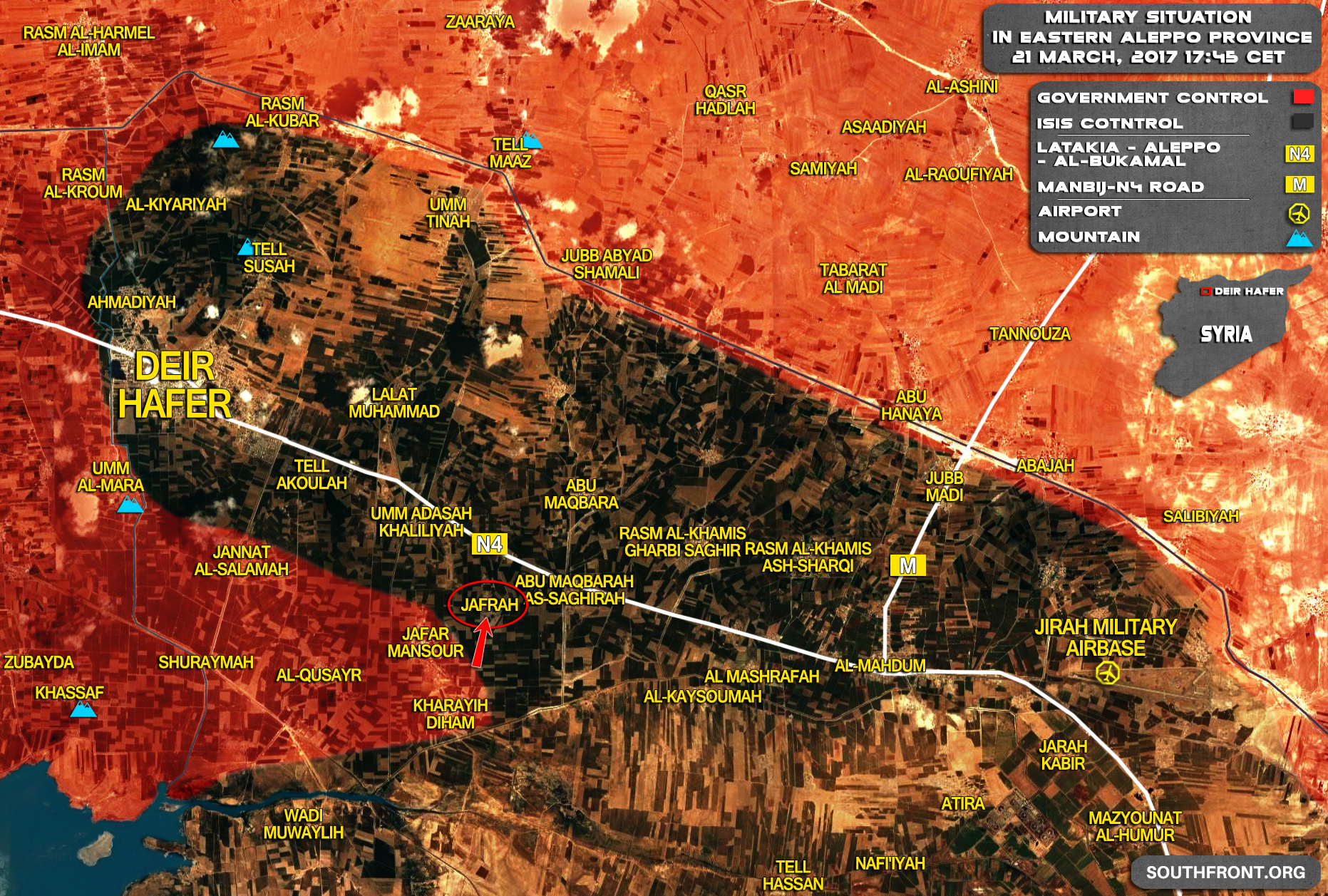 Government Forces Get Fire Control Of Highway West Of ISIS Stronghold Of Deir Hafer - Reports