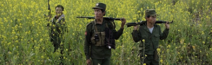 Militants of the Myanmar National Democratic Alliance Army. Image: Reuters
