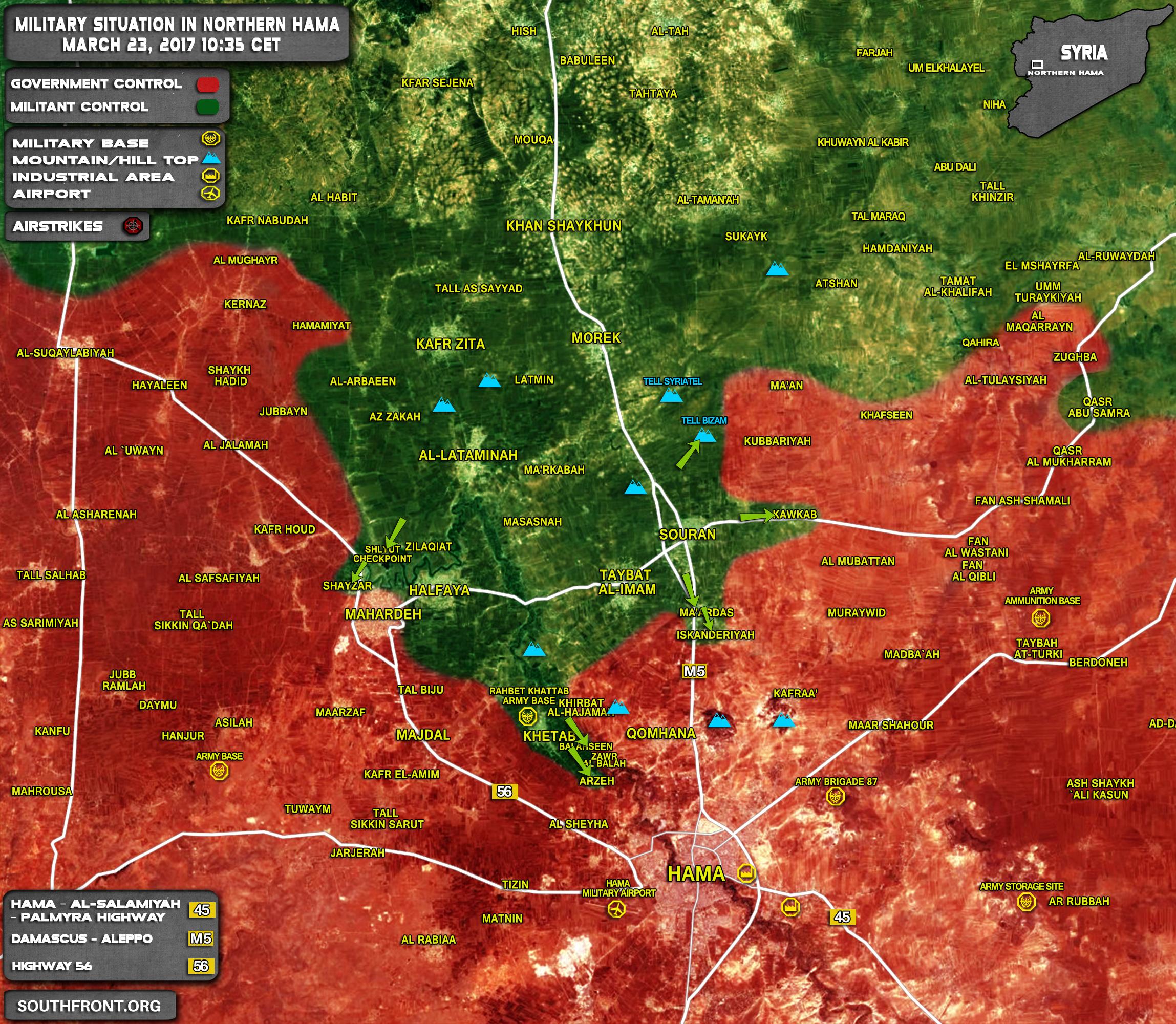 Hayat Tahrir al-Sham-led Forces Seize More Villages In Northern Hama, Deploy Closer To Provinicial Capital