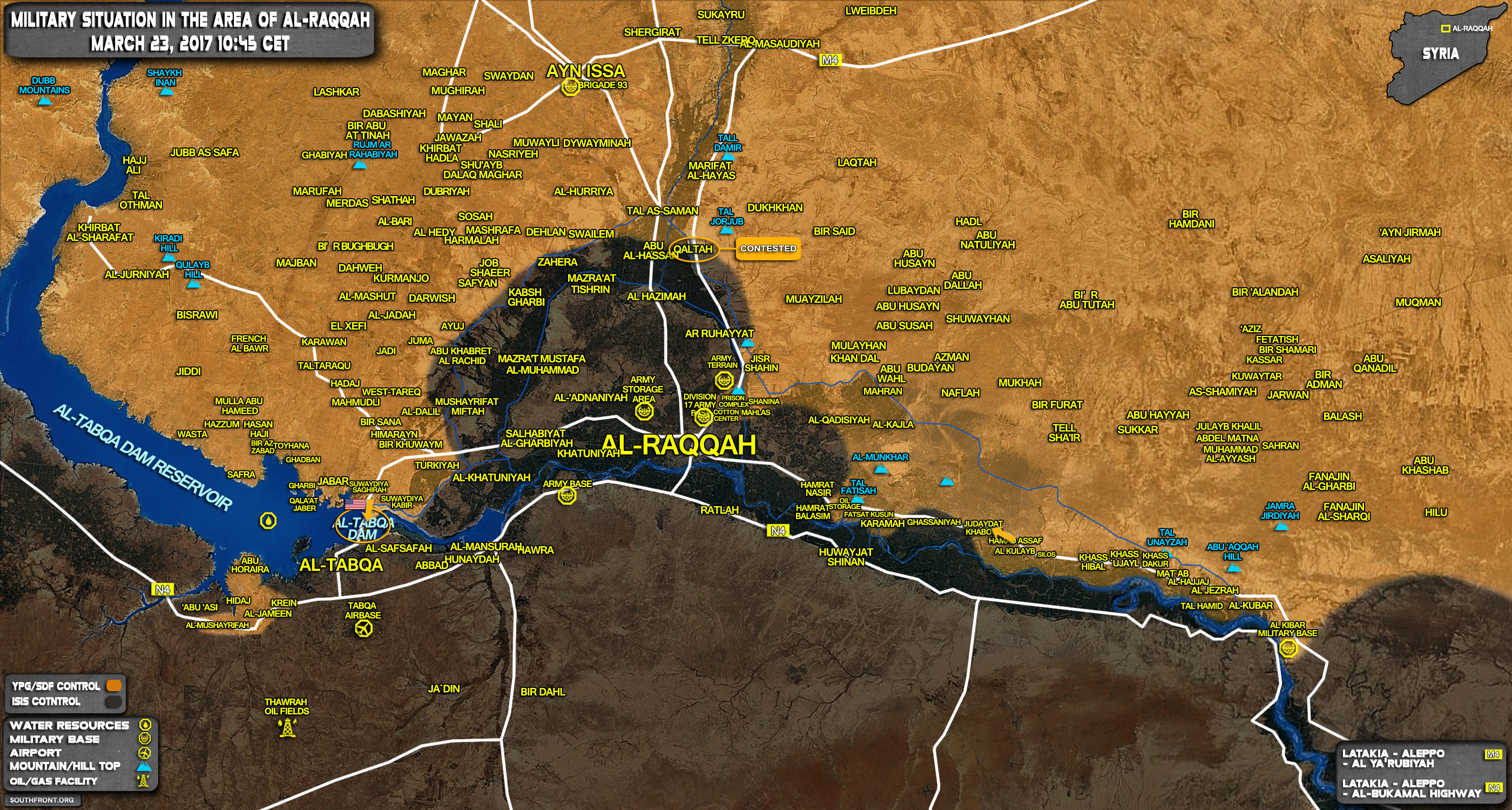 US Special Forces, SDF Fighters Capture Tabqa Dam In Raqqah Province - UNCONFIRMED