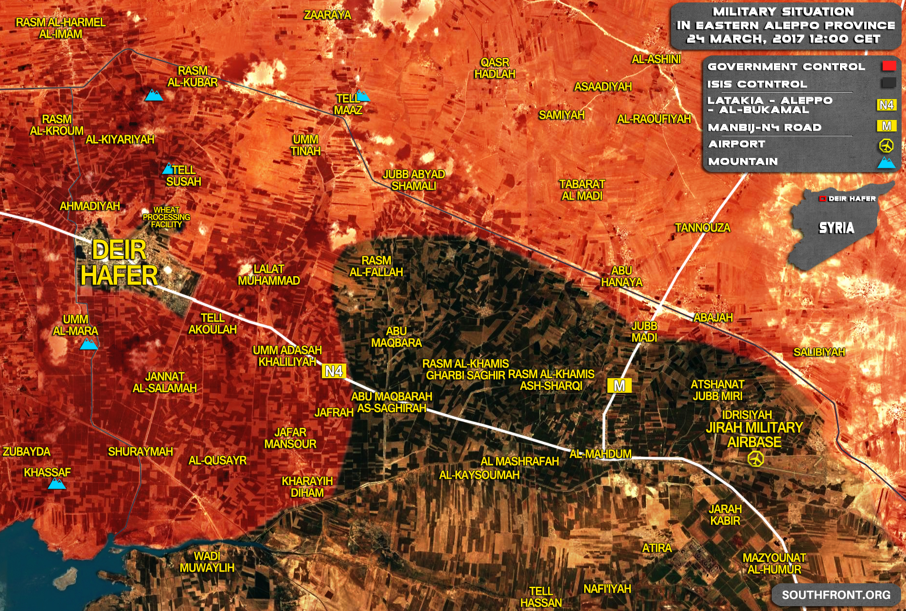 Update About Situation In Deir Hafer, Government Forces Liberate Umm Tinah In Eastern Aleppo Countryside