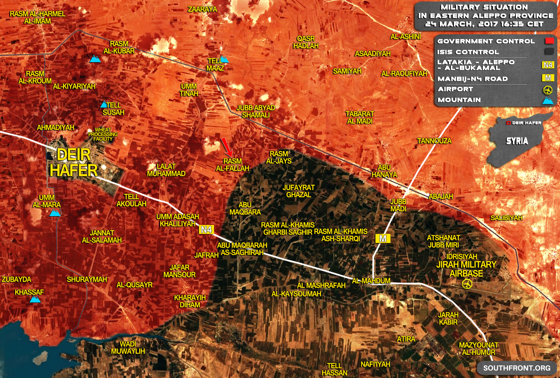 Government Forces Advancing East Of Deir Hafer (Map Update)