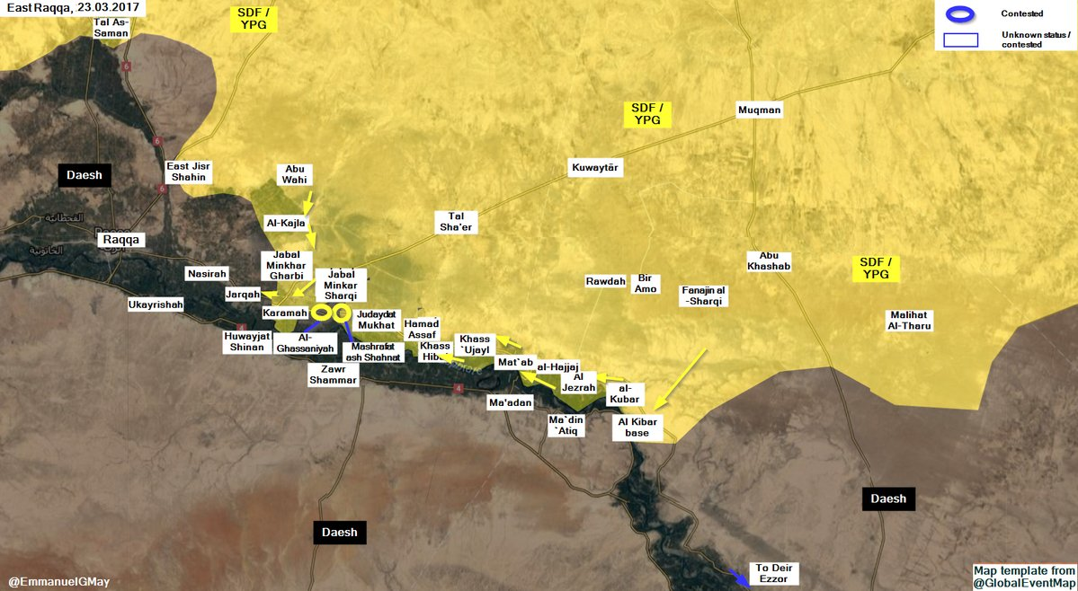 US-Backed Forecs Developing Advance East Of Raqqah