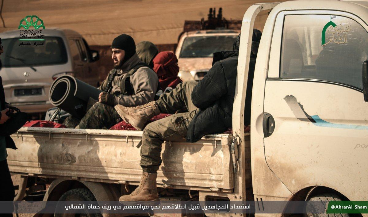 Ahrar al-Sham Joins Hayat Tahrir al-Sham In Anti-Government Advance In Northern Hama (Photos)