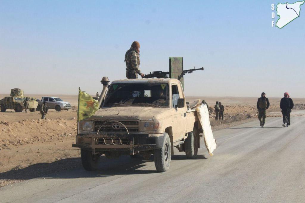 US-Backed Forecs Developing Advance East Of Raqqah