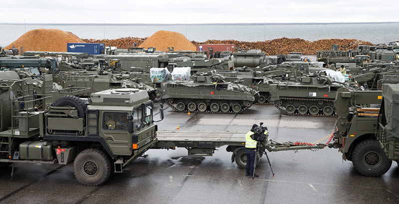 Over 100 NATO Military Vehicles Arrive in Estonia as Part of 'Biggest Deployment since Cold War'