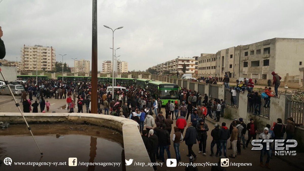 Hundreds of Terrorists Leave Homs' al-Waer Area (Photos)