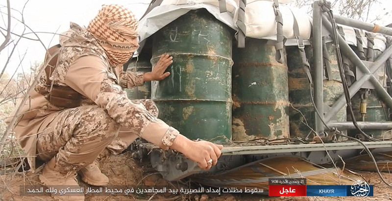 ISIS Seizes Humanitarian Aid Dropped for Syrian Military in Deir ez-Zor