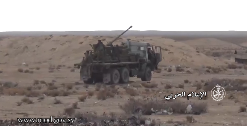 Syrian Military Turn KamAZ Truck into Self-Propelled Gun (Video)