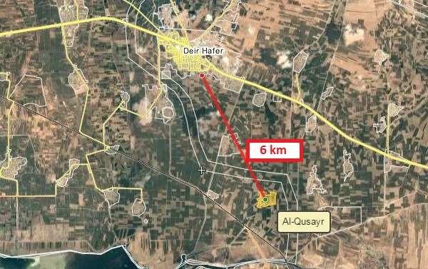 Government Forces Capture Al-Qusayr Village And Train Station South Of Deir Hafer